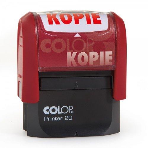 Colop 100669 Textstempel selbstfärbend: Bezahlt, rot