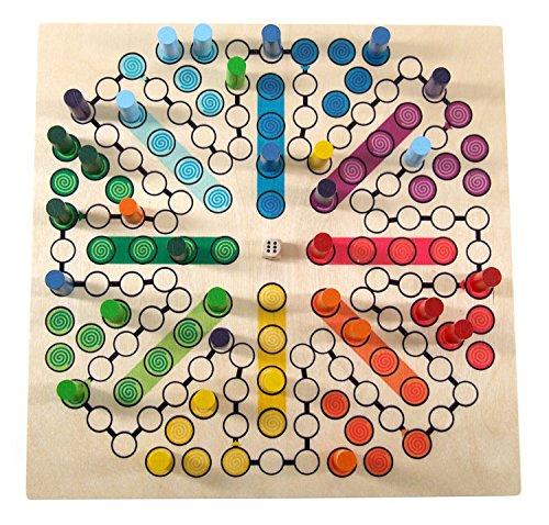 Hess Holzspielzeug 14849 – Brettspiel Raus mit Dir aus Holz für 8 Personen