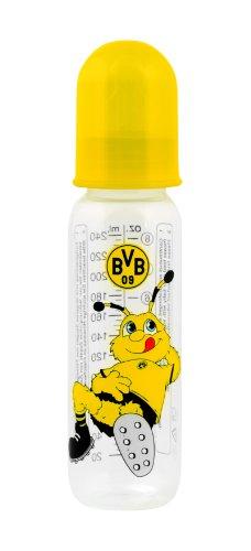 "primamma 44576100 – Babyflasche ""Borussia Dortmund"" 250ml Silikon Gr. 1"