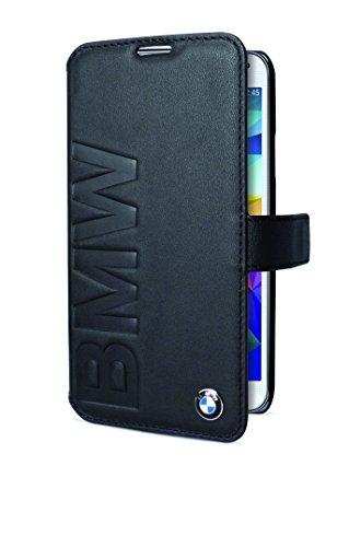 BMW Lizenz Offizielle - Signature Kollektion - Booktype (öffnet sich wie ein Buch) - geprägt BMW-Unterschrift Für Galaxy S5 - Schwarz
