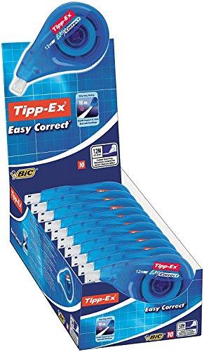 Tipp-Ex Easy Correct Korrekturroller zum seitlichen Korrigieren / Korrekturband 12 m x 4,2 mm / 10er Pack in praktischer Displaybox