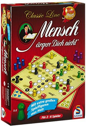 Schmidt Spiele 49085 – Classic Line: Mensch ärgere Dich nicht mit extragroßen Spielfiguren