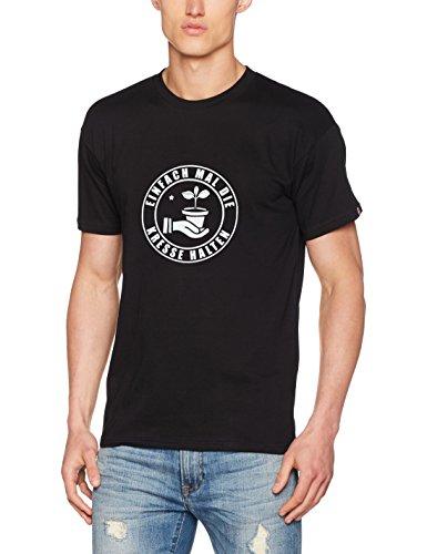 Shirtzshop T Shirt Einfach Mal Die Kresse Halten Garten, Schwarz, L, ss-shop-u1308052-t