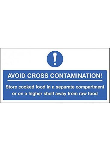 Caledonia Schilder 25615j vermeiden Kreuzkontamination Zeichen, selbstklebendes Vinyl, 400mm x 200mm x 200mm