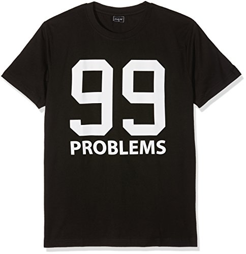 Mister Tee Herren 99 Problems T-Shirts, Black, M