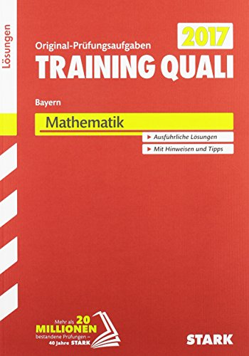 Training Quali Bayern – Mathematik Lösungsheft